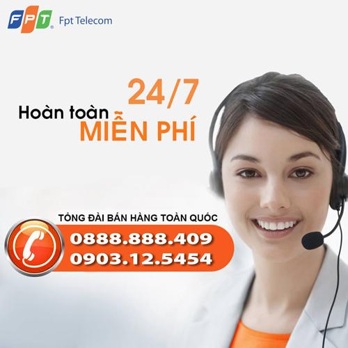 Tổng đài đăng ký lắp đặt FPT miễn phí tại TP.HCM - 0903.12.5454 - 0888.888.409